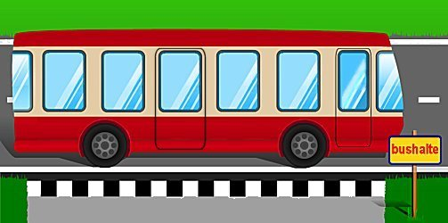 de bus komt bij de bushalte